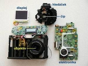 Konstrukce digitálního fotoaparátu jako na dlani