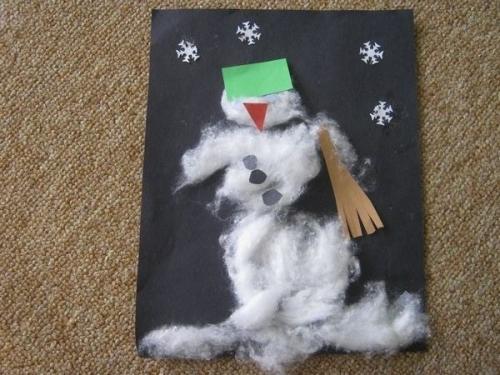 Sněhulák z vaty
