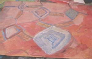 Přiklad popisu: Prostor je teplý, vlhký, růžové světlo sálá z placatých kamenů na stěnách. Je příjem