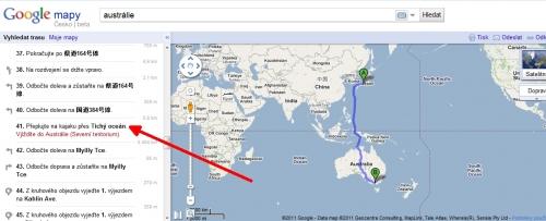 mapka z Google Maps