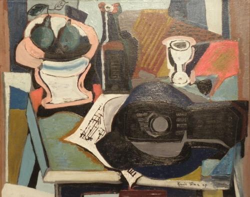 Emil Filla, Zátiší z mandolínou, 1927/Moravská galerie v Brně