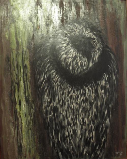 Toyen, Hlas lesa, 1934, olej na plátně / Moravská galerie v Brně