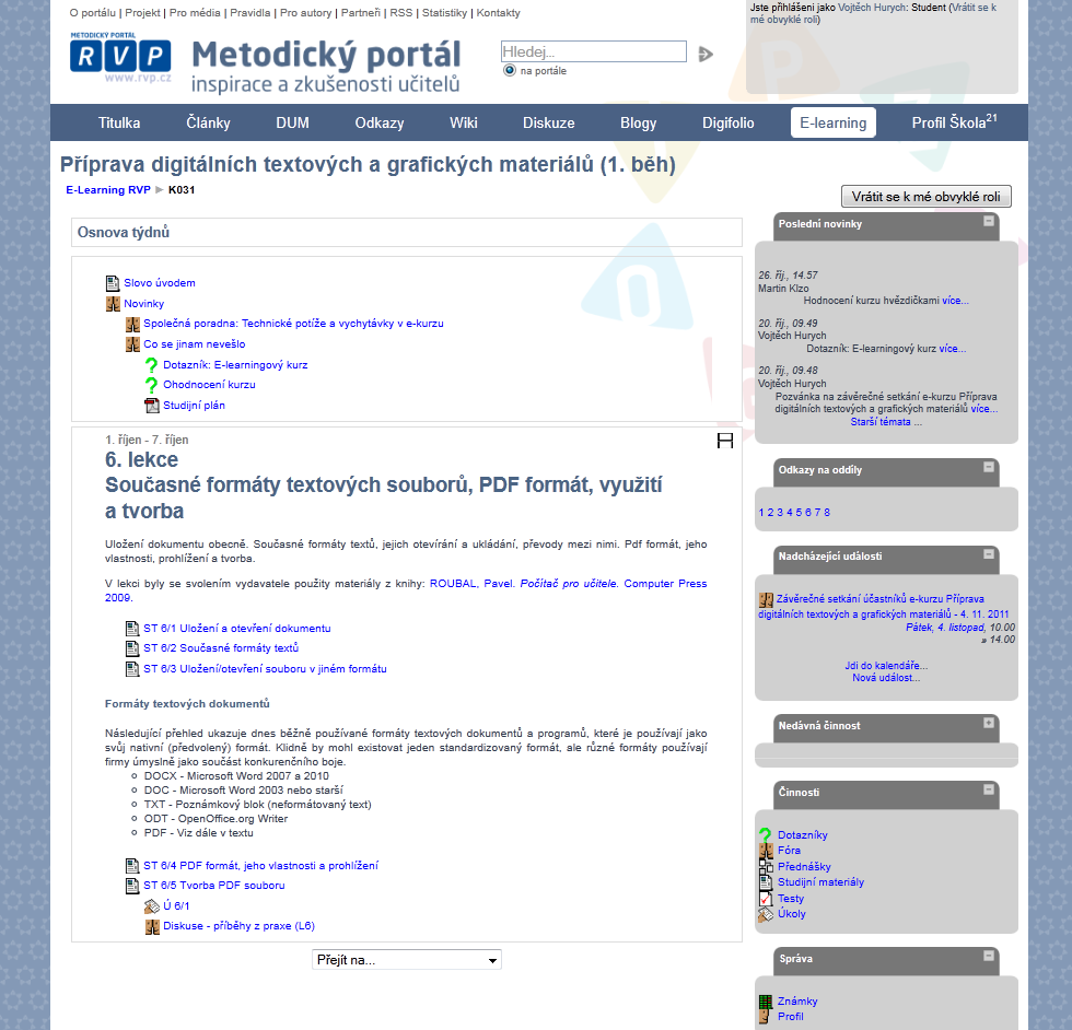 E-learning na Metodickém portálu 600aae2906