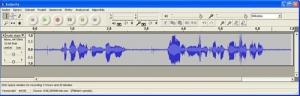 Zvuk importovaný do střihového programu