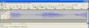 Křivka zvuku při zvětšení