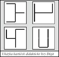 Ukázka kartiček didaktické hry Digit