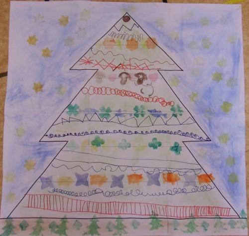Vánoční stromeček, grafomtorika 2