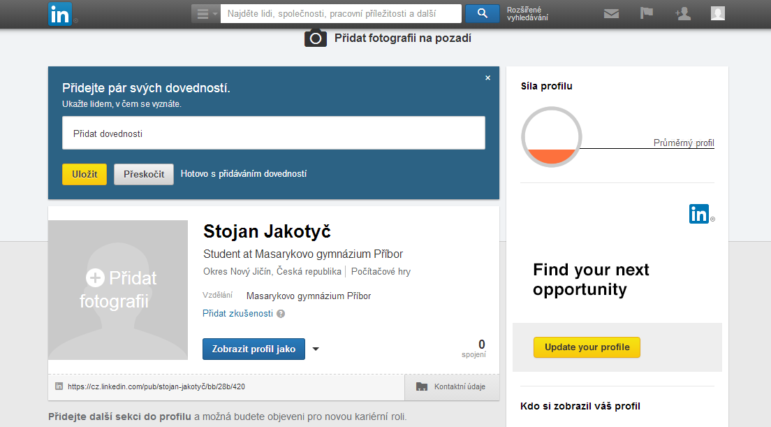 Jak vybudovat dobrý online profil