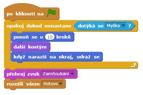 Příkazy používané v prostředí Scratch