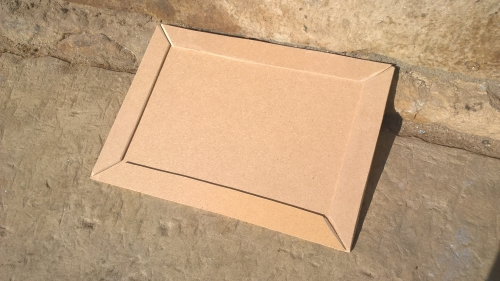 Vyhotovená deska s lištami (rozměr 30x22 cm)