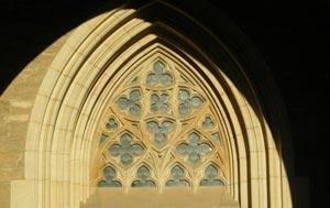 Detail gotického okna, chrám sv. Barbory, Kutná Hora