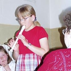 Nácvik hry na flétnu v rámci zájmové činnosti školní družiny