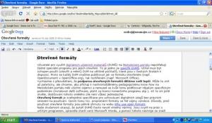 on-line textový editor Google Dokumenty v běžném a celoobrazovkovém režimu