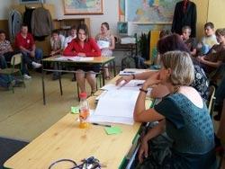 Fotografie z obhajoby absolventských prací ve školním roce 2006/2007
