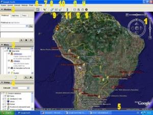 Ovládání Google Earth