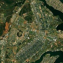 satelitní snímek -  Brasília