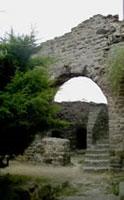 Ukázka zdiva hradu