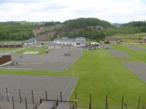 Pohled na prostor památníku Vojna v době vyhlášení soutěže
