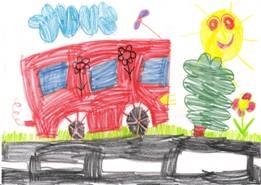 Dominčin červený autobus