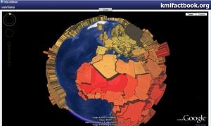 3D tématická mapa porodnosti