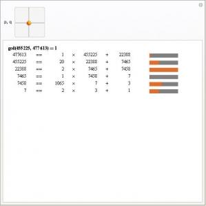 Ukázka Euclidean Algorithm Steps