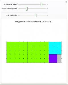 Ukázka The Euclidean Algorithm
