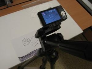 Upevnění stativu s fotoaparátem a animačních pomůcek
