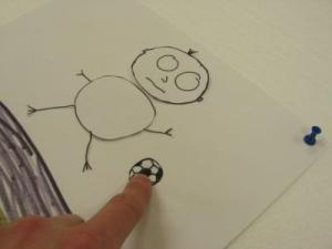 Pohybování s objekty - v tomto případě animace pohybu míče.