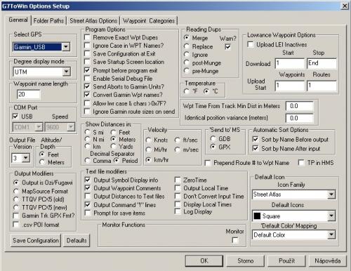 Configurace programu G7toWin