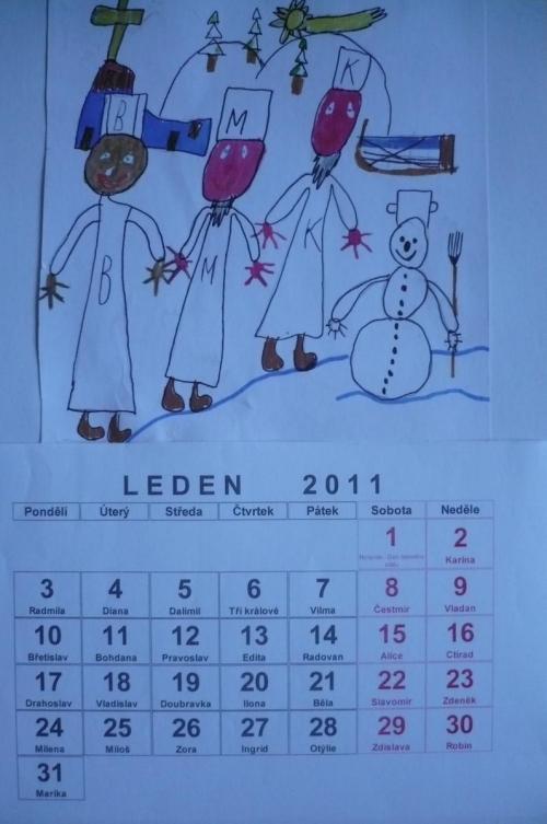 stránka kalendáře