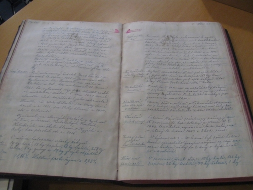 Zápis v kronice